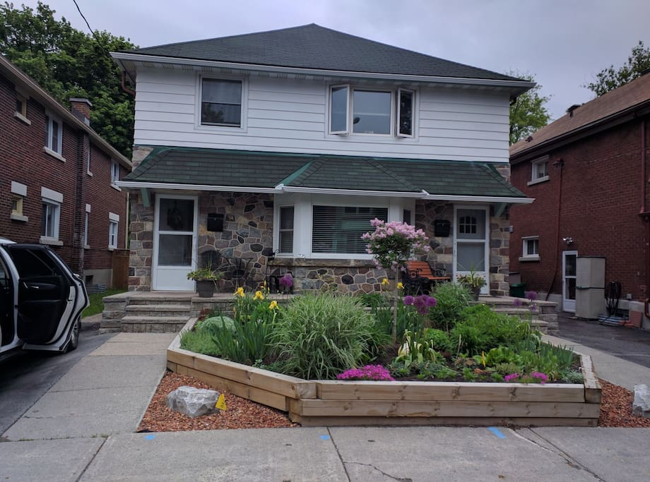 Front of the house and garden