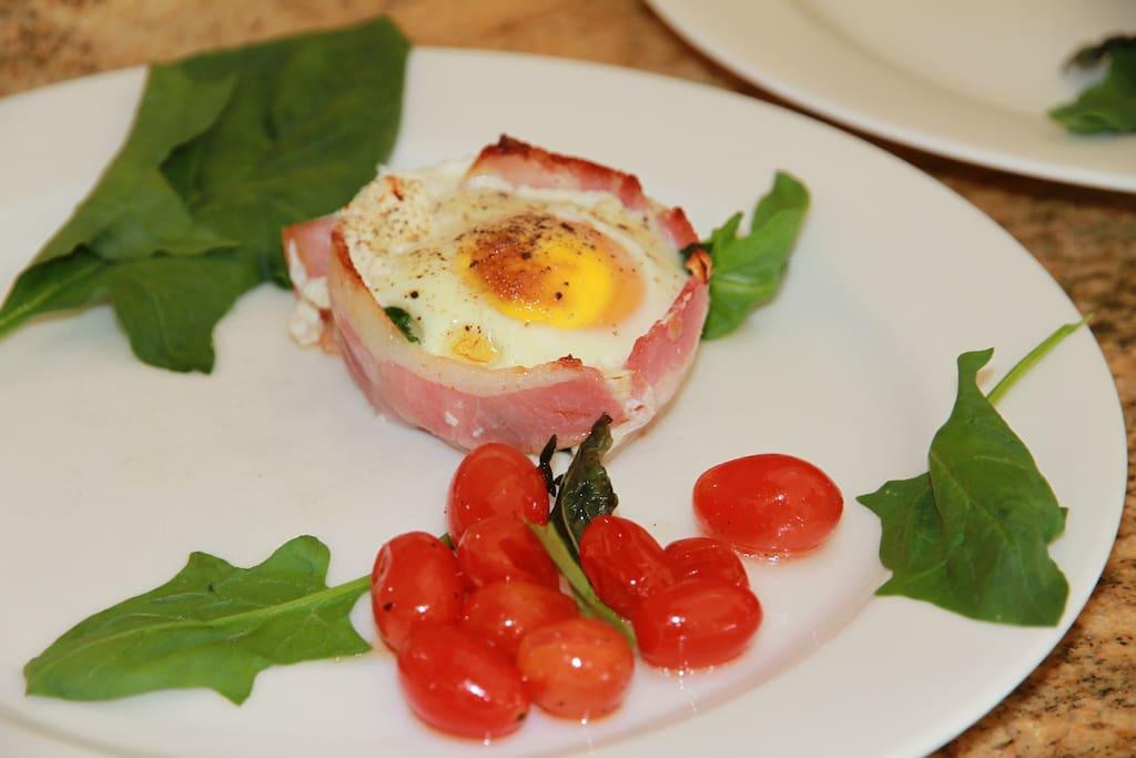 Enjoy a great breakfast.