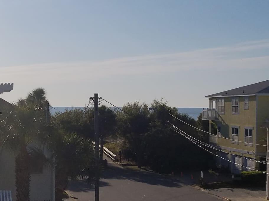 See the beach? SWEET