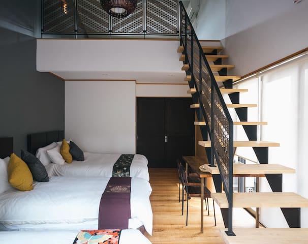 MSAS 可擕帶著寵物住宿♪附閣樓,可容納8名旅客!附寬敞木甲板陽台,感受宮島風情♪