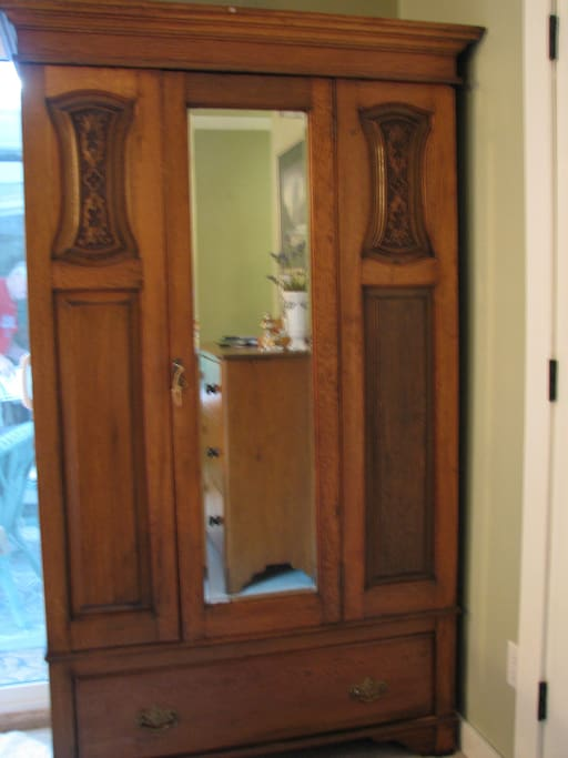 Armoire for your use.