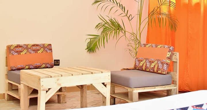 Chambre avec jardin - Akwa Guesthouse