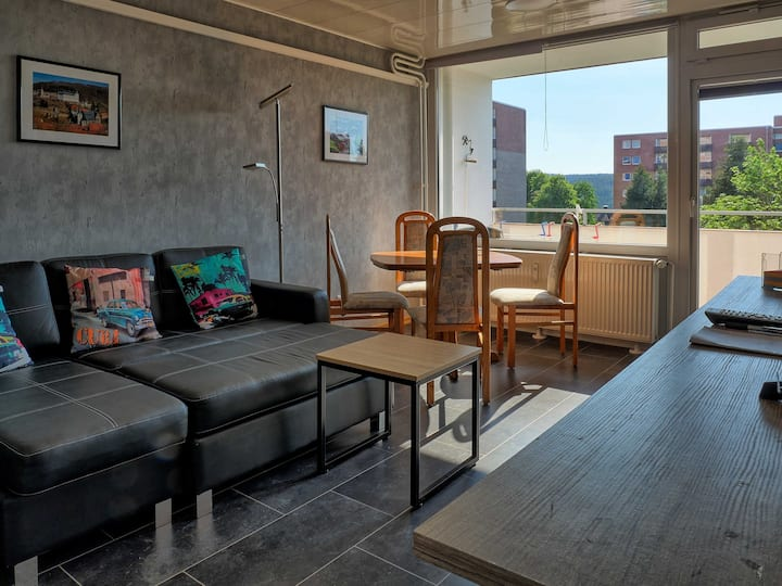 Modern Apartment 'Hexenstollen' with Balcony & Wi-Fi; Pets Allowed, Parking Available