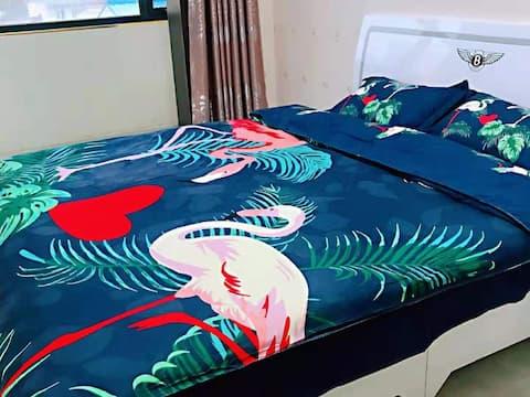 【春蕾民宿】近南风广场,双人大床/榻榻米,温馨,舒适品质套房,多种风格供您选择!