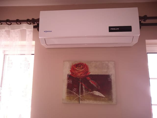 There are 2 air conditioners in the house. You will need this most in Marmaris's warm weather !