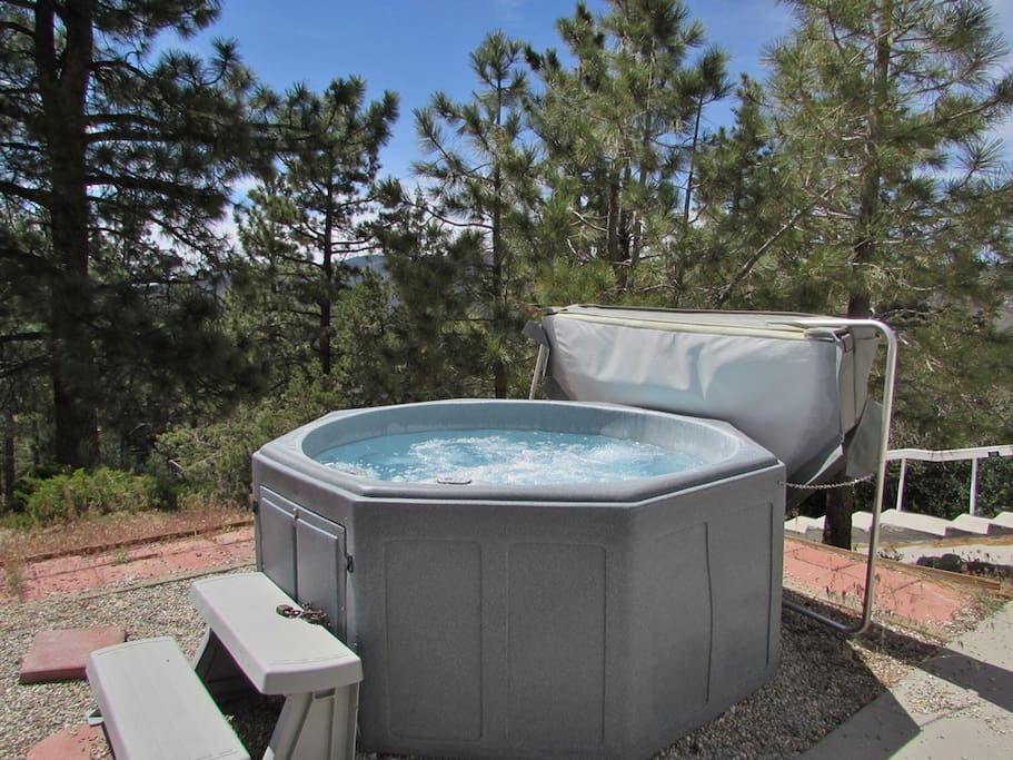 Outdoor Hot Tub With Amazing Treed Views