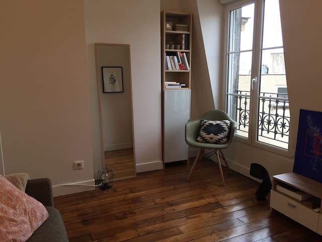 Studio lumineux proche Marais et Bastille - París - Pis