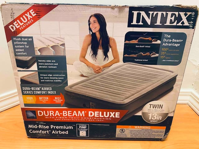 An inflatable air mattress for that 5th guest (or, someone you're mad at!)