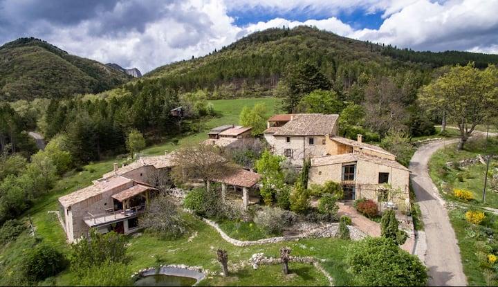 Charme et ton turquoise dans Mas provençal