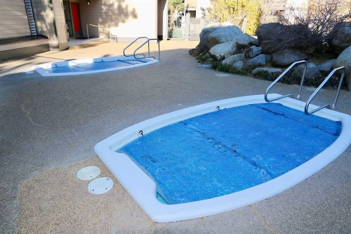 Hot tubs (and a dry sauna) are available for your use year-round...there is also a common area laundry at the pool clubhouse