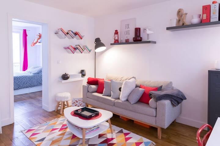 Cozy Home with 2 rooms in Paris !! - Paris - Wohnung