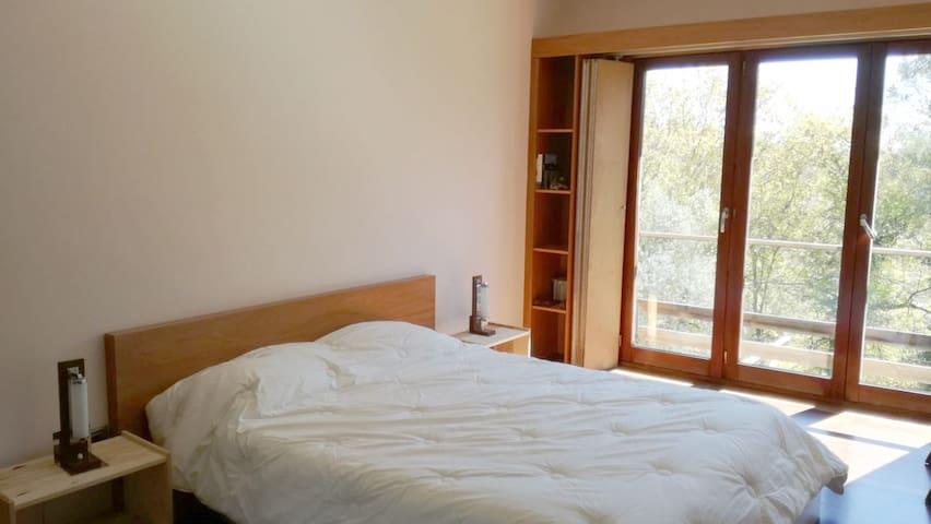 Room 1 - double bed with en-suite bathroom