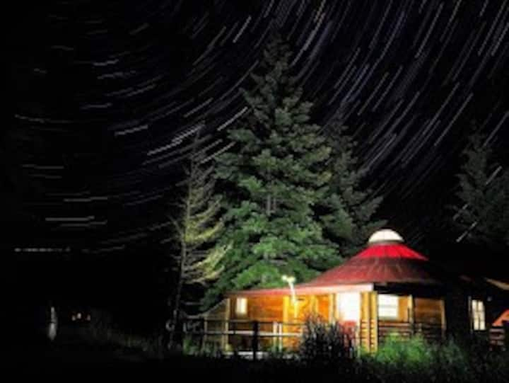 Lux Romantic Yurt-Social Space in a Forest Place!