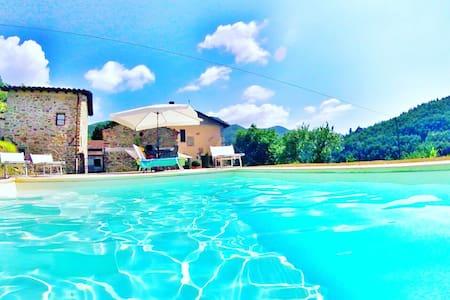 Camera privata con piscina - Agriturismo i Chiosi - Comano