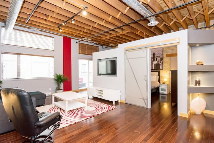 12-foot ceilings- Stunning Warehouse Style Condo