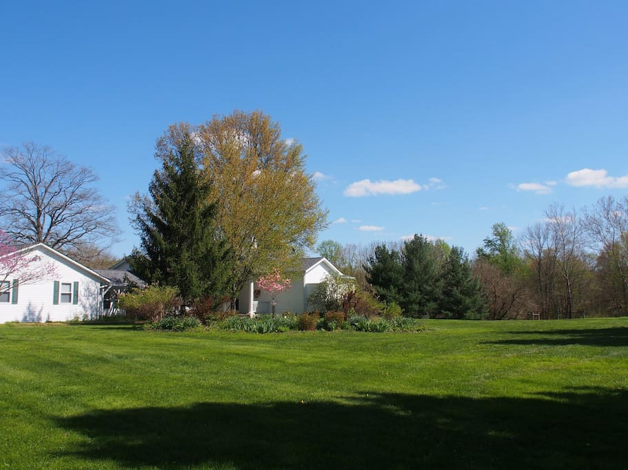 Springtime: home and gardens from the driveway