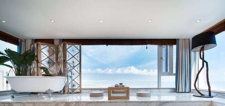 【疫情钜惠】270度海景,50平方轻奢空间,五星配置金可儿戴森,享受洱海蓝天白云夕阳