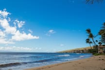 Just a short stroll to beautiful Sugar Beach.  Its five-mile, mostly undeveloped stretch makes it Hawaii's longest uninterrupted beach.