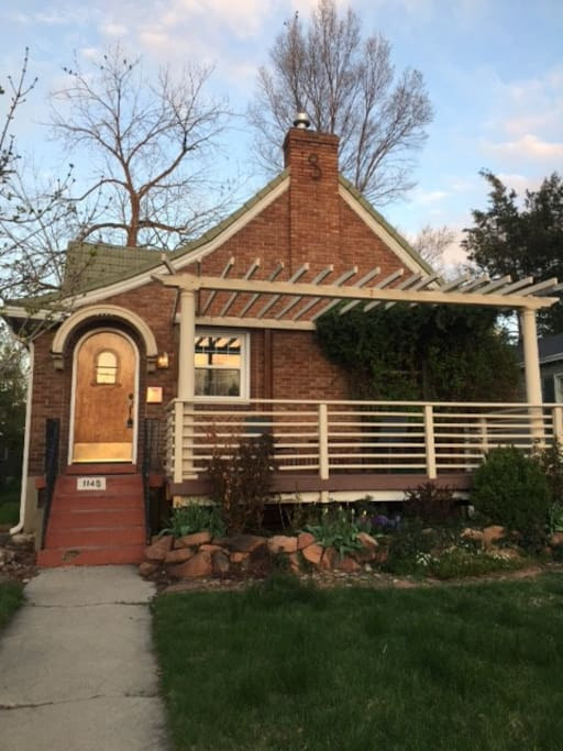 Spring time house. Here is the front.