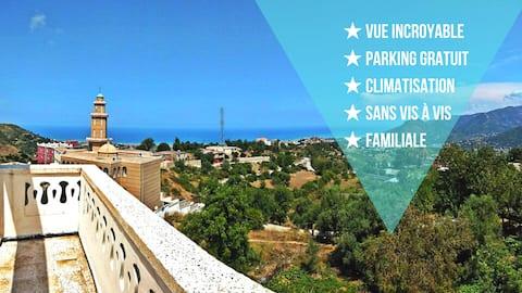 ★★ F2 Appartement met geweldig panoramisch uitzicht ★★