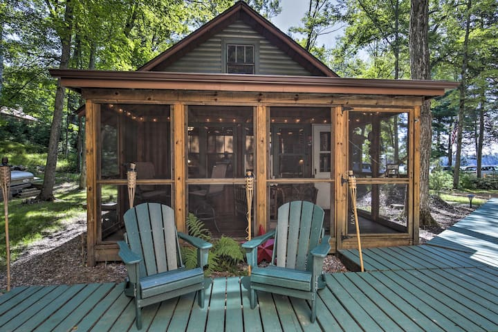 NEW! Lakefront St. Germain Cottage w/ Dock Access!