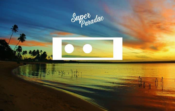 Super Paradise~ Quarto II  Duplo a 5 min do mar~