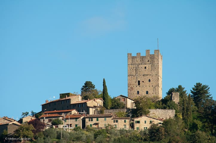 Casa Martina, cozy apartment in Medieval village - Porciano, Stia, Arezzo, Italy - Apartmen