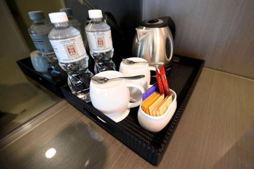 Coffee, Tea, or Mineral water? Complimentary