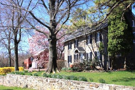 Lake Nockamixon Stone Farmhouse  in Bucks County - Perkasie