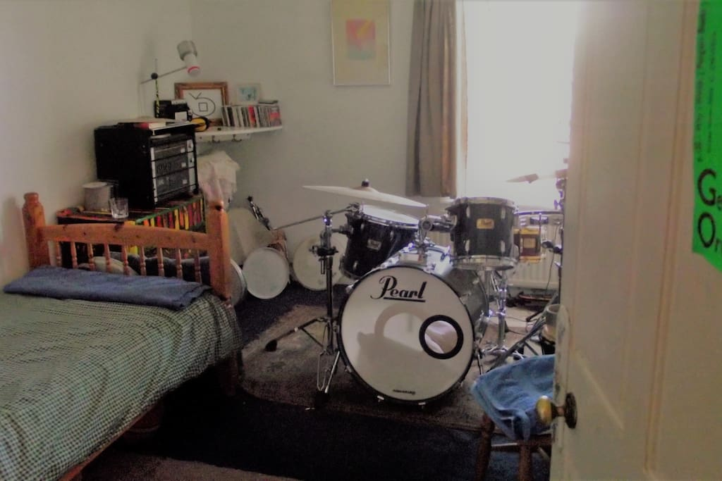 Single room with drum kit