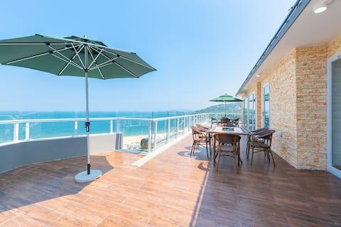 大梅沙海世界270°海景轻奢超大阳台四居套房