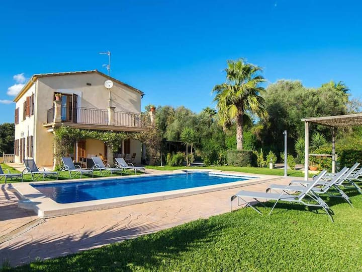 Coquette and bright country house with pool in Inca for 8 + 1 people