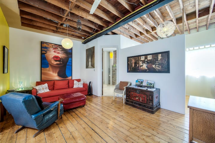 Unique Above Garage Loft private Bedroom