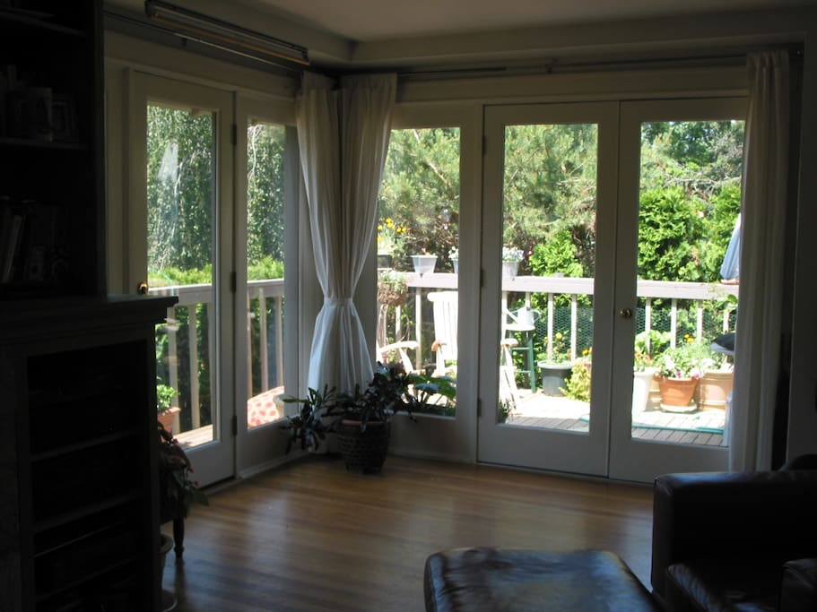 French doors to wrap around deck