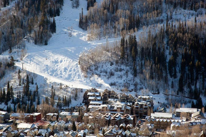Looking south - ski in access from Telluride trail and Kids Hill