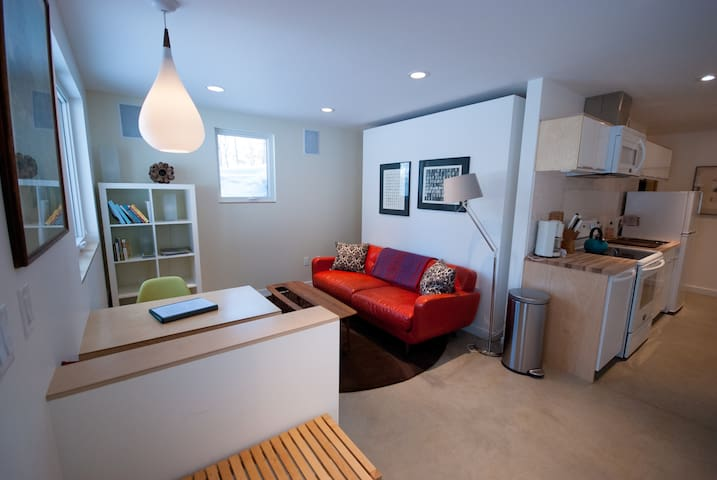Apartment interior from entryway