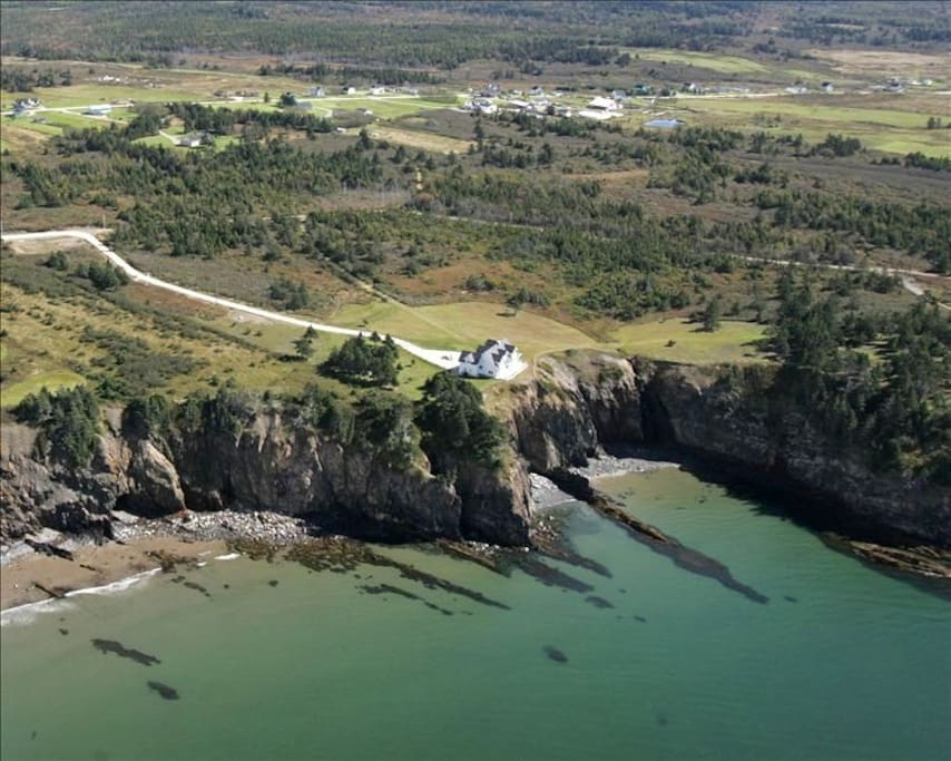 Estate overlooks St. Mary's Bay, lighthouse, and Atlantic Ocean