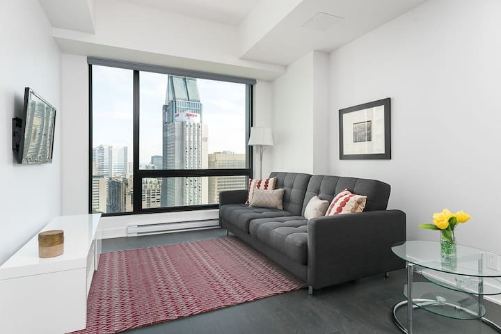 Stylish 1BR in Downtown MTL - Montreal - Apto. en complejo residencial