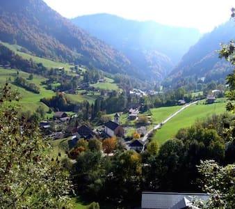 CHARMANT APPARTEMENT DANS CHALET NEUF - Entremont - Naturhytte