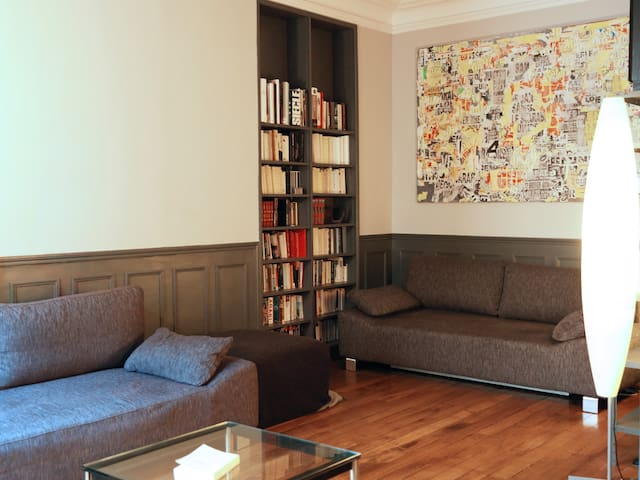 The 2 couches can be easily turned into 2 large and comfortable double beds.