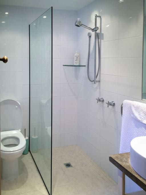 Shower room in self-contained flat