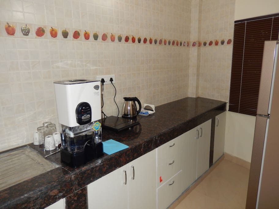 The Kitchen with amenities