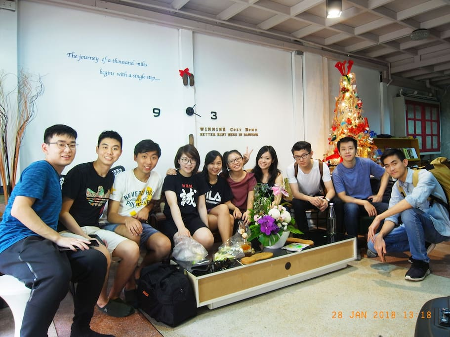 Merry Christmas & Happy New Year 2018 with lovely Hong Kong Guests.