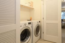 Guests are permitted to use the laundry machine at night