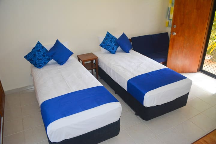 Twin single beds are also available