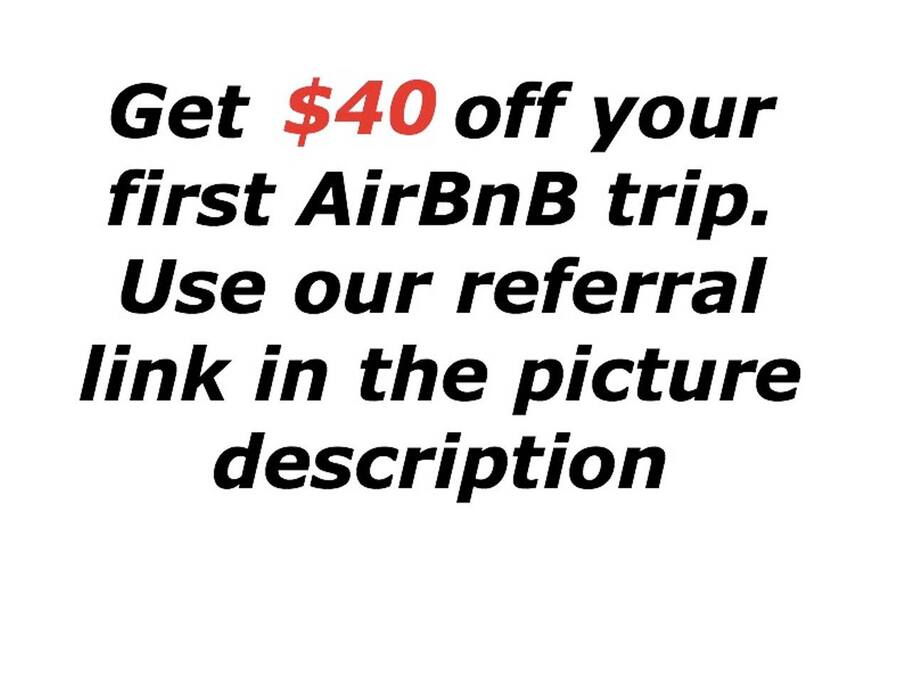 save $40 on your first trip book through https://www.airbnb.com/c/britneyo43?currency=USD
