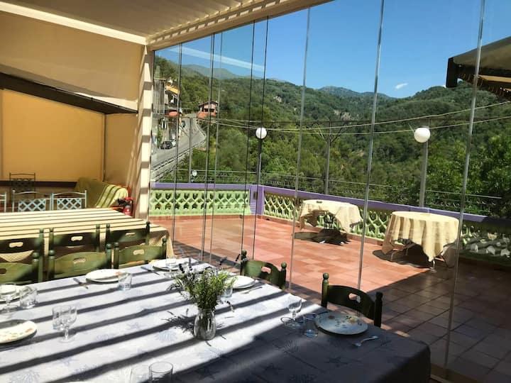Maison de 6 chambres à Olivetta, avec terrasse aménagée et WiFi - à 14 km de la plage
