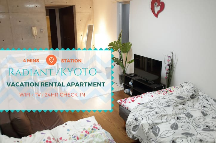 Radiant Studio by Kamo River/WiFi - Higashiyama-ku - Appartement