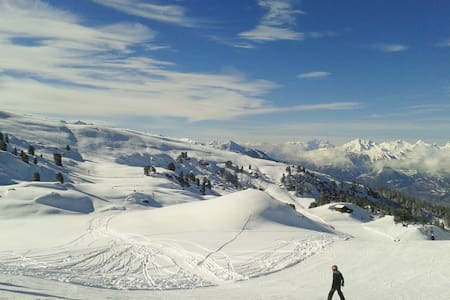 Sonnige Ferienwohnung mit schönem Ski/Wandergebiet - Nax