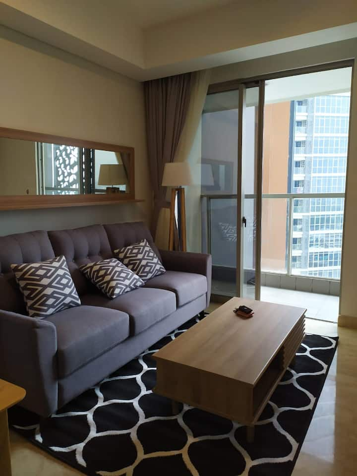 Comfy 1BR Apartment in Pantai Indah Kapuk for Rent